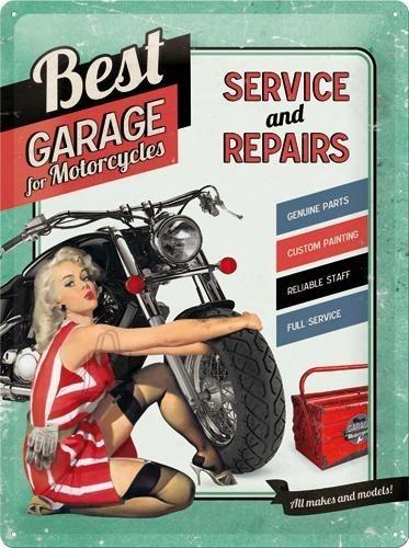 NostalgicArt metallplaat Best Garage for Motorcycles
