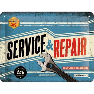 NostalgicArt metallplaat Service & Repair