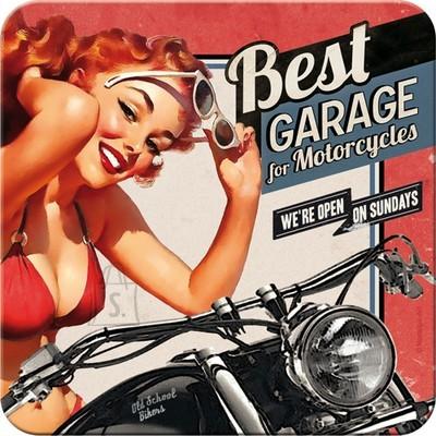 NostalgicArt retro klaasialus Best Garage Punane