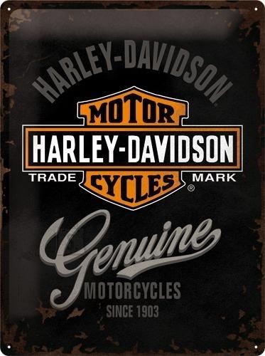 NostalgicArt metallplaat Harley-Davidson Genuine logo