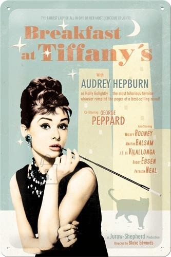 NostalgicArt metallplaat Breakfast at Tiffany´s