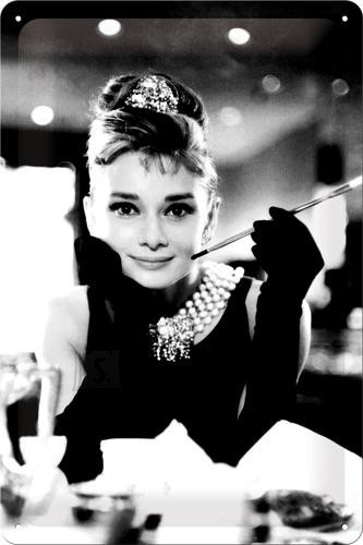 NostalgicArt metallplaat Breakfast at Tiffany´s Audrey