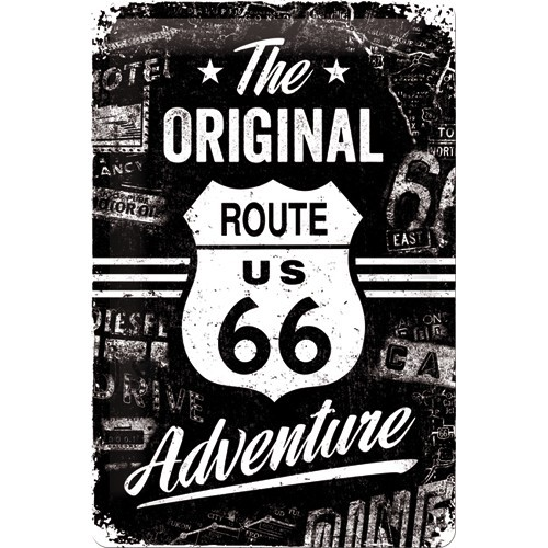 NostalgicArt metallplaat Route 66 The Original Adventure