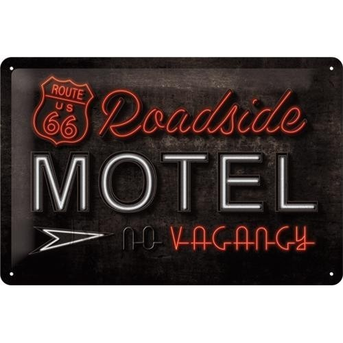NostalgicArt metallplaat Route 66 Roadside Motel