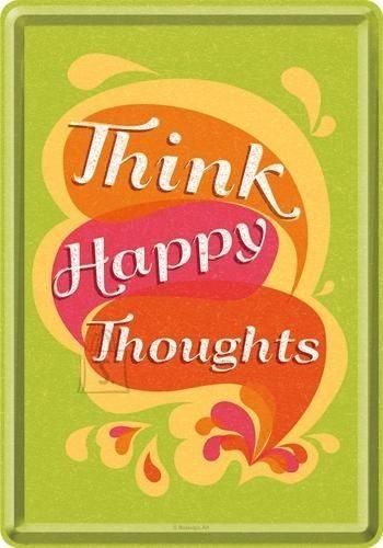 NostalgicArt metallist postkaart Think happy thoughts