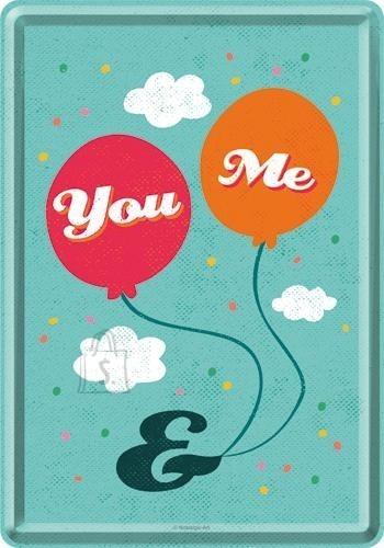 NostalgicArt metallist postkaart You & Me