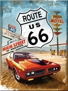 NostalgicArt magnet Route 66 Gas Up