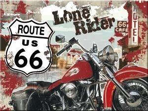 NostalgicArt magnet Route 66 Lone Rider