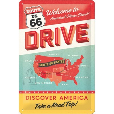 NostalgicArt metallplaat Route 66 Discover America