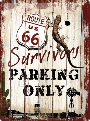 NostalgicArt metallplaat Route 66 Survivors Parking only