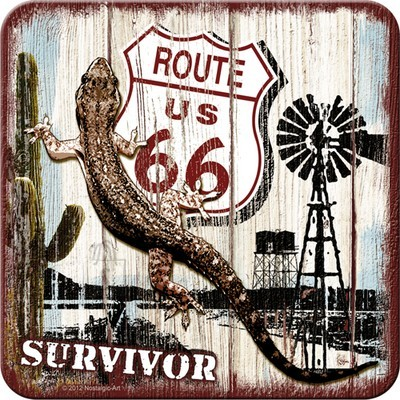 NostalgicArt retro klaasialus Route 66 Survivor 1tk