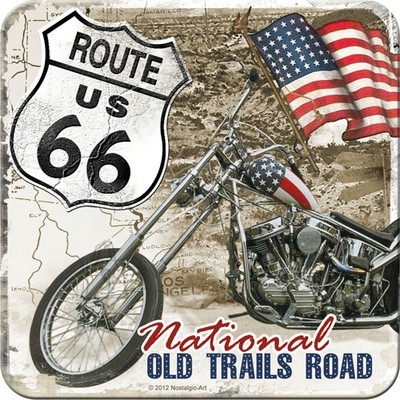 NostalgicArt retro klaasialus Route 66 Old Trails Road 1tk