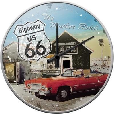 NostalgicArt seinakell Route 66 Punane Auto