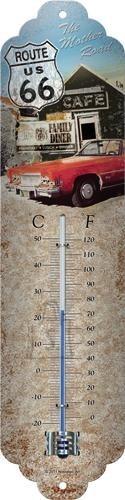 NostalgicArt termomeeter Route 66 Punane auto