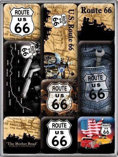 NostalgicArt magnetite sari Route 66 9 tk
