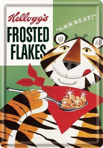 NostalgicArt metallist postkaart Kellogg's Frosted Flakes