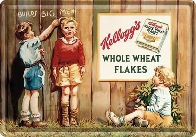 NostalgicArt metallist postkaart Kellogg's Whole Wheat Flakes