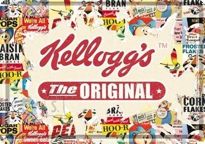 NostalgicArt metallist postkaart Kellogg's The Original collage