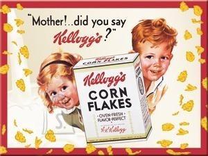 "NostalgicArt külmkapimagnet Kellogg's Corn Flakes ""Mother!did you say Kellogg's?''"