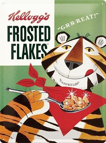 NostalgicArt metallplaat Kellogg's Frosted Flakes Tony Tiger