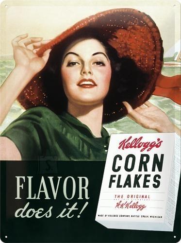 NostalgicArt metallplaat Only Kellogg's Corn Flakes Flavor does it!