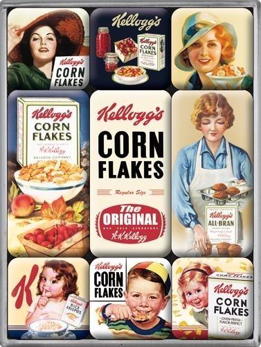 NostalgicArt külmkapimagnetite sari Kellogg's Corn Flakes 9 tk