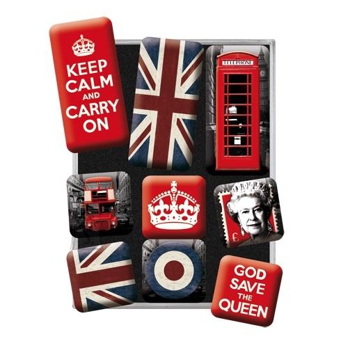 NostalgicArt külmkapimagnetite sari Grat Britannia 9tk