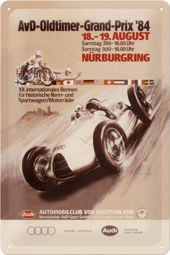 NostalgicArt Metallplaat 20x30cm / AvD-Oldtimer-Grand-Prix ´84