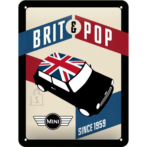 NostalgicArt Metallplaat 15x20cm/ Mini Brit & Pop