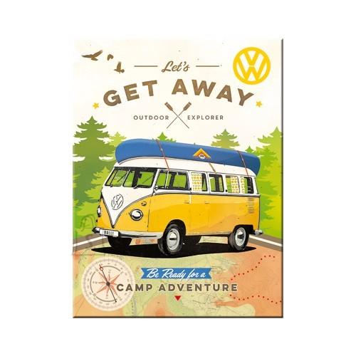 NostalgicArt Magnet / VW Bulli Let's Get Away