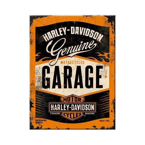 NostalgicArt Magnet / Harley-Davidson Garage