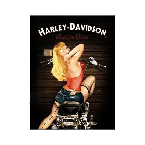 NostalgicArt Magnet / Harley-Davidson Biker Babe