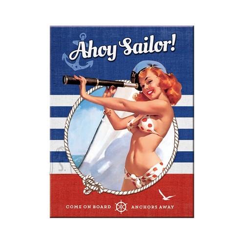 NostalgicArt Magnet / Pin Up Ahoy Sailor