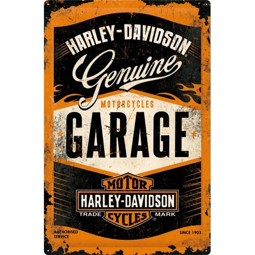 NostalgicArt Metallplaat 40x60cm / Harley-Davidson Garage