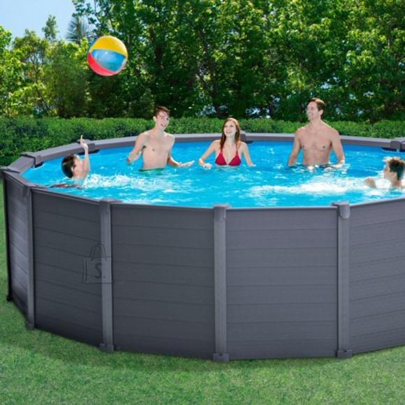 Intex paneelraamiga bassein Graphite Panel 4.78x1.24 m