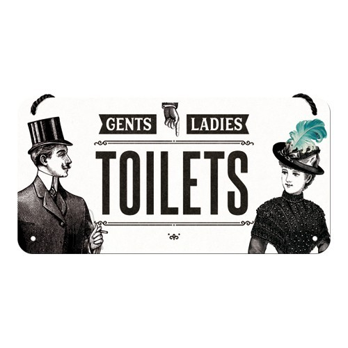 Metallplaat 10x20 cm / Toilets