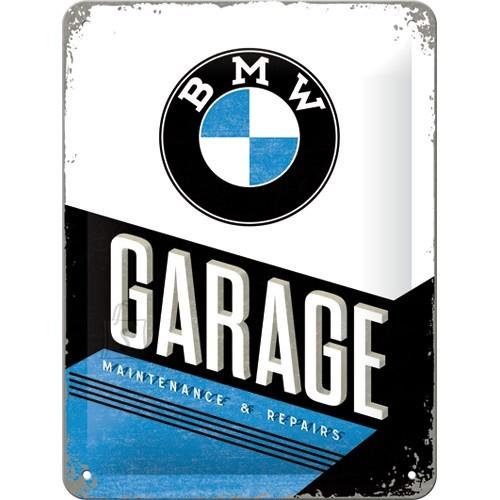 Metallplaat 15x20cm / BMW Garage