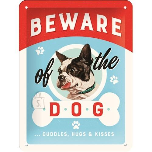 Metallplaat 15x20cm / Beware of the Dog