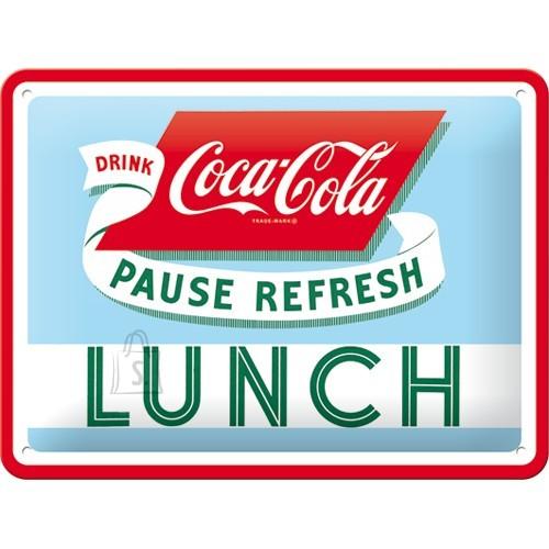 Metallplaat 15x20cm /  Coca-Cola Lunch
