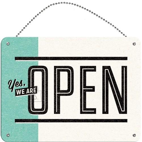 Metallplaat 15x20cm / Kahepoolne Open/Closed