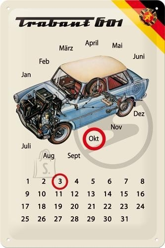 Metallplaat 20x30cm / Trabant 601