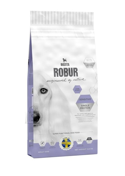 Bozita Robur Sensitive Single Protein Lamb & Rice koeratoit 12,5kg