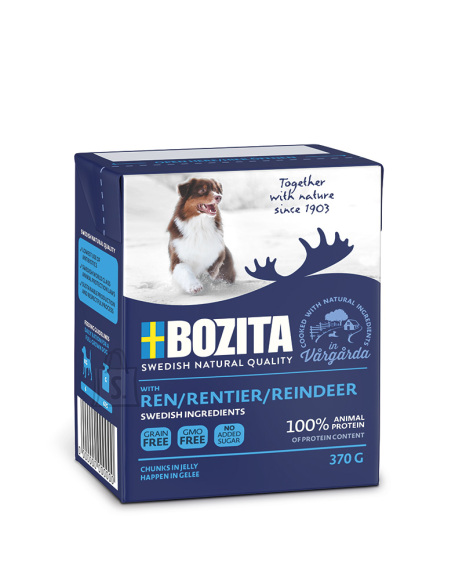 Bozita koeratoit põhjapõdralihaga 16x370g