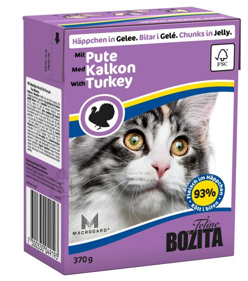 Bozita kassikonserv Turkey in Jelly 16x370g