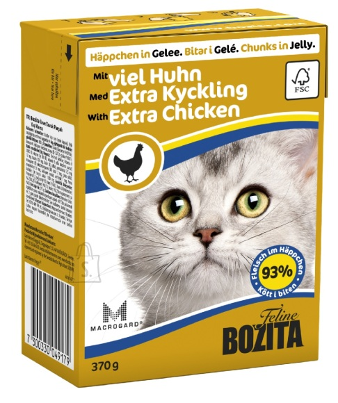 Bozita kassikonserv Extra Chicken in Jelly 16x370g