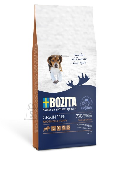 Bozita Grain Free Mother & Puppy Elk teraviljavaba koeratoit 12kg