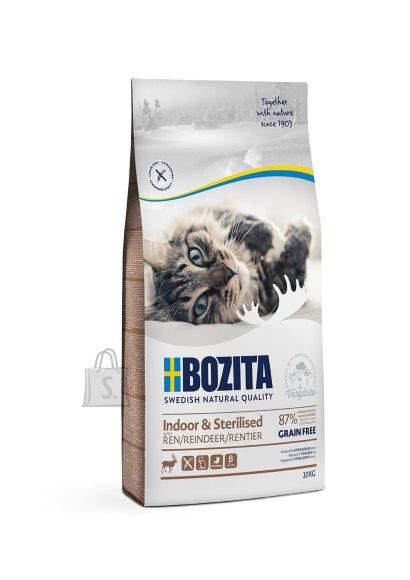 Bozita Indoor & Sterilised Grain Free Reindeer kassitoit 10kg