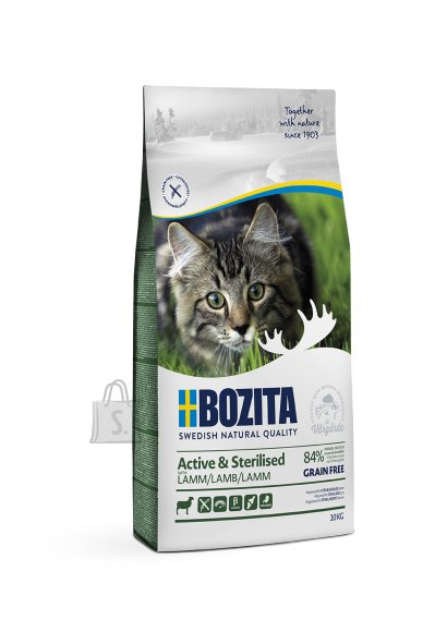 Bozita Active & Sterilised Grain Free Lamb kassitoit 10kg