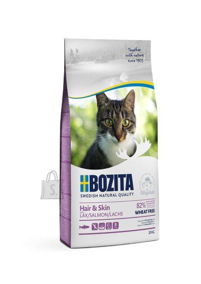 Bozita Hair & Skin – Wheat Free Hairball Salmon kassitoit 10kg