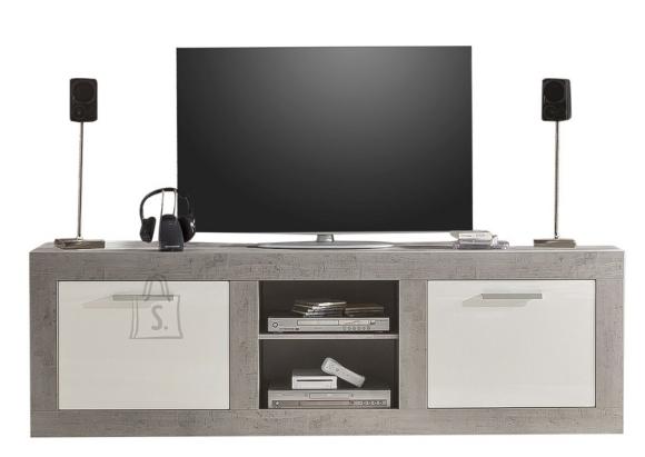 Trendteam TV-alus Pure valge / hall, 210x50xH68 cm